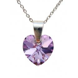 Ogrlica - kristal Swarovski u srebru 925 - Srce 10mm Vitrail Light