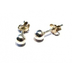 Earrings Silver Balls 3mm - 925 Sterling Silver