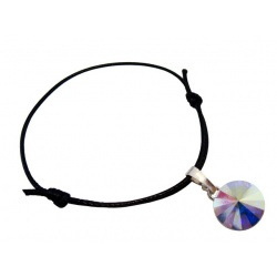 Thread Bracelet - Swarovski Crystals Rivoli 12mm Crystal AB