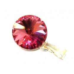 Privjesak sa Swarovski Kristalima Rivoli 12mm Rose - Srebro 925