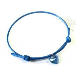Bracelet - Swarovski Crystals Heart 10mm Aquamarine AB