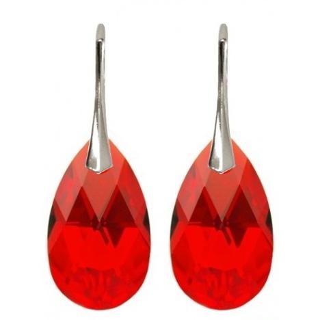 Naušnice s kristalima Swarovski - Badem Crystal AB - Srebro 925