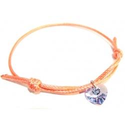 Bracelet - Swarovski Crystals Heart 10mm Provence Lavender