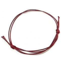 Thread Bracelet 1mm - Maroon