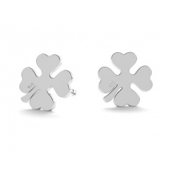 "Stick Earrings ""Clover"" - 925 Sterling Silver + BOX"