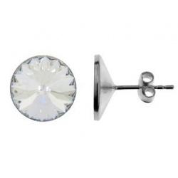 Naušnice štapići s kristalima Swarovski u srebru 925 - RIVOLI 12mm Crystal