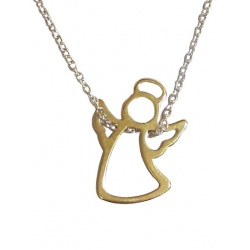 "Necklace ""Angel"" - 925 Silver & Gilded + BOX"