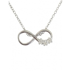 "Necklace w/ Pendant ""Infinity"" - 925 Sterling Silver + BOX"