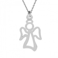 Necklace Angel - 925 Sterling Silver + BOX