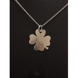 Necklace Note - Rhodium Plated 925 Sterling Silver + BOX