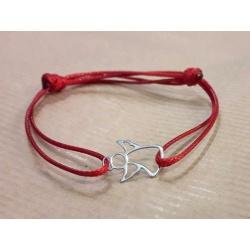 "Green Thread Bracelet & Pendant ""Angel"" made of 925 Sterling Silver"