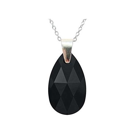 Ogrlica - kristal Swarovski u pozlacenom srebru 925 - Badem 22mm Bermuda Blue