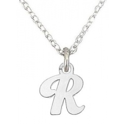 """Necklace, letter """"R"""" - 925 Sterling Silver + BOX"""