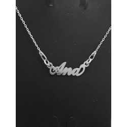 "Necklace w/ Nametag ""Ana"" - 925 Sterling Silver + BOX"