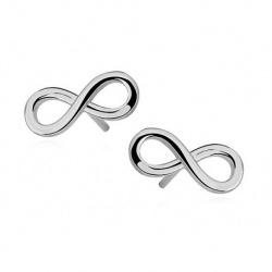 Earrings - 925 Sterling Silver Infinity