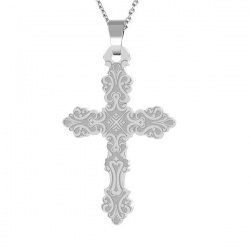 Necklace - Chain & Pendant Cross - 925 Sterling Silver