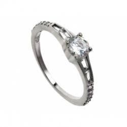 Prsten s cirkonima - Srebro 925 - Razmjer 15 + KUTIJA