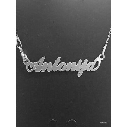"Necklace w/ Nametag ""Antonija"" - 925 Sterling Silver + BOX"