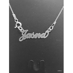 """Necklace w/ Nametag """"Jasna"""" - 925 Sterling Silver + BOX"""