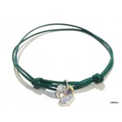 Narukvica konac sa Swarovski kristalom - srce 10mm crystal