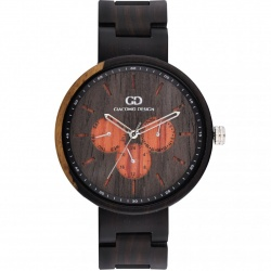 Drveni muški ručni sat Giacomo Design CALENDARIO ESTESO GD08103