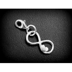 Narukvica sa Swarovski kristalom Srce 10mm Greige + KUTIJA