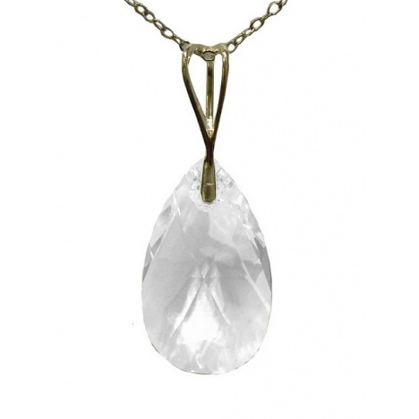 Ogrlica - kristal Swarovski u srebru 925 - Badem 22mm Crystal