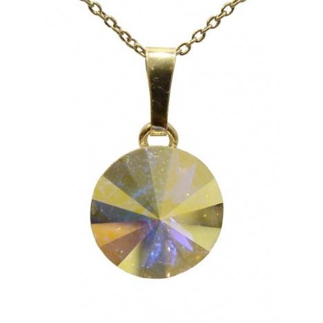 Ogrlica - kristal Swarovski u srebru 925 - Rivoli 12mm Crystal AB + KUTIJA
