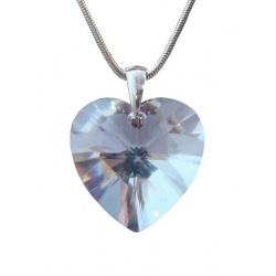 Necklace  Swarovski Crystal Heart 28mm Crystal