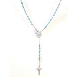 Ogrlica Srce Rodinirano Srebro 925 + KUTIJA